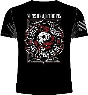 Mens don't tread on me Black Biker T-Shirt