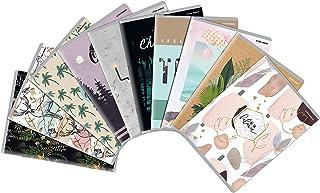 """TOP-2000 Notizbuch """"Mixed Design"""", DIN A5, kariert mit Rand, je 60 Blatt, 60g/m² Papier, Softcover mit 10 unterschiedliche..."""