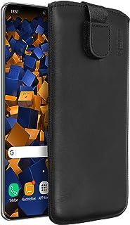 mumbi Echt Ledertasche kompatibel mit Samsung Galaxy S20+ Hülle Leder Tasche Case Wallet, schwarz