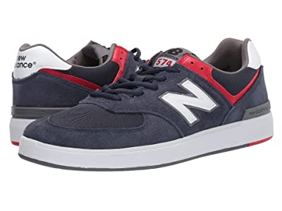 New Balance Numeric AM574 (Navy/White) Men