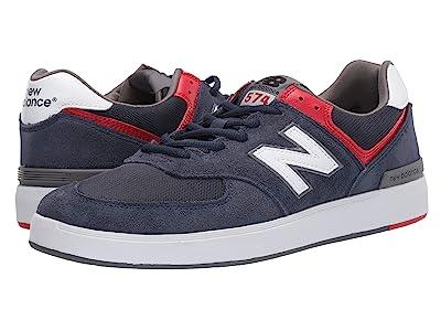New Balance Numeric AM574 (Navy/White) Men
