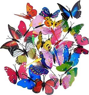 comprar comparacion Shappy 20 Piezas Estacas de Mariposas de Jardín y 4 Piezas Estacas de Libélulas Adornos de Jardín para Decoración de Patio...