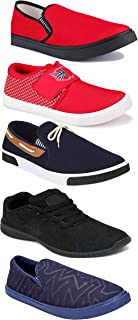 WORLD WEAR FOOTWEAR Sports Running Shoes/Casual/Sneakers/Loafers Shoes for Men Multicolor (Combo-(5)-1219-1221-1140-417-1110)