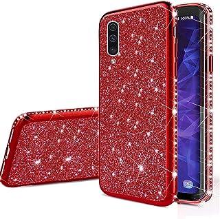جراب مبهج لهاتف Galaxy A30S، جراب خلفي واقٍ من السيليكون اللامع رفيع للغاية من الجلد اللامع اللامع لهاتف Samsung Galaxy A30S