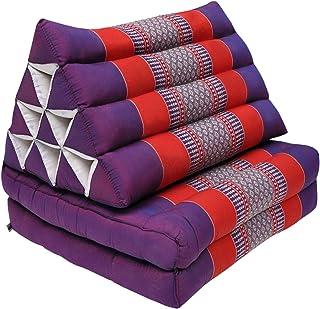 Kitama relleno con kapok esterilla de yoga con 3 cojines Coj/ín tailand/és triangular esterilla tailandesa como esterilla tailandesa