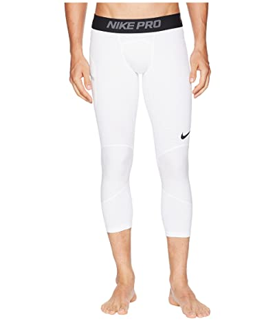 Nike Dry 3/4 Basketball Tights (White/Black) Men