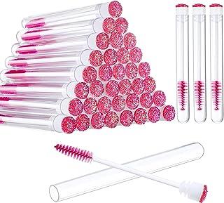 80 Pieces Disposable Mascara Brushes Tubes Set, 40 Pieces Empty Mascara Wand Tube with 40 Pieces Eyelash Brush Makeup Tool...