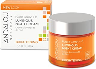 Andalou Naturals Purple Carrot + C Luminous Night Cream, 1.7 Ounce