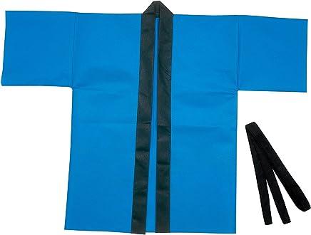 アーテック カラー不織布ハッピ(帯付) 大人用 L 青 001361