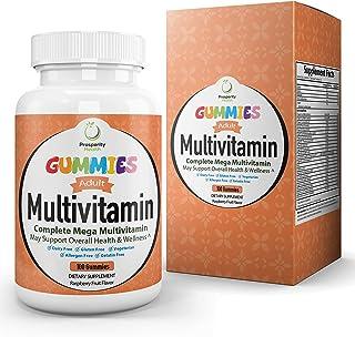 Adult Multivitamin Gummies by Prosperity Health ®| Raspberry Flavor Mens & Womens Multivitamin Gummies 100 Count (50 Day S...