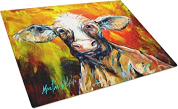 Caroline's Treasures MW1225LCB Another Happy Cow Glass Cutting Board Large, Large, Multicolor