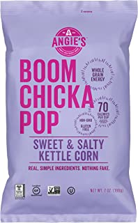 Angie's BOOMCHICKAPOP Sweet & Salty Kettle Corn Popcorn, 7 Ounce Bag (Pack of 4 Bags)