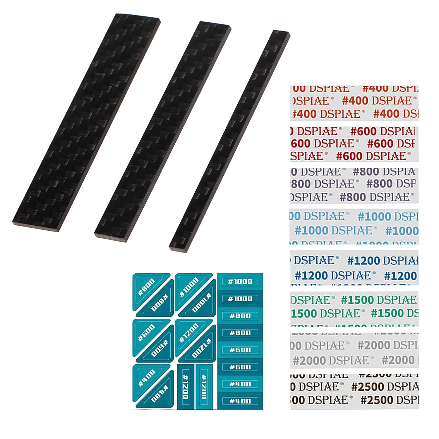 Zetto 3 Sizes Max 75% OFF Max 83% OFF Sanding Sticks with 24 PCS Grit Sandpaper Adhesive