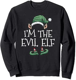 I'm The Evil Elf Matching Family Group Christmas Sweatshirt