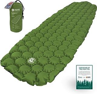 ECOTEK Outdoors Hybern8 Ultralight Inflatable Sleeping Pad Air Mattress for Hiking, Backpacking, Camping, Travel - Lightweight Portable Gear for Your Sleeping Bag, Bivy, Hammock, Cot, Mat, Tent