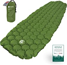 ECOTEK Outdoors Hybern8 Ultralight Inflatable Sleeping Pad with Contoured FlexCell Honeycomb Design - Easy to Inflate, Comfortable, Lightweight, Durable, and Hammock Approved