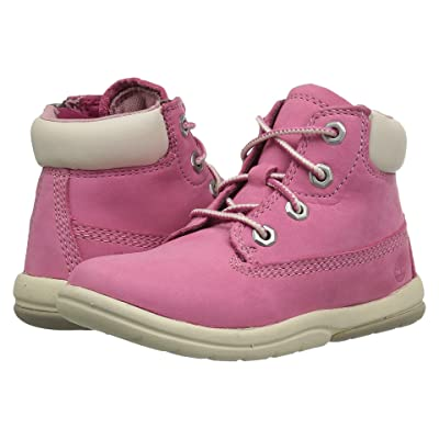 Timberland Kids Toddle Tracks 6 Boot (Toddler/Little Kid) (Fuchsia Rose Nubuck) Kids Shoes