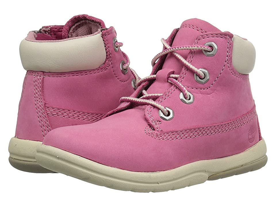 Timberland Kids Toddle Tracks 6 Boot (Toddler/Little Kid) (Fuchsia Rose Nubuck) Kids Shoes