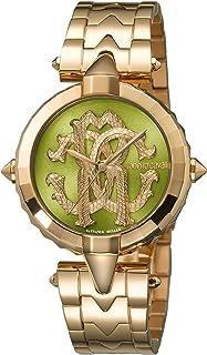 ROBERTO CAVALLI Women's RC-34 Swiss Quartz Watch Tone Strap, Rose Gold, 18 (Model: RV1L032M0086)