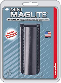 Maglite Black Plain Leather Holster for AA Cell Mini Flashlights