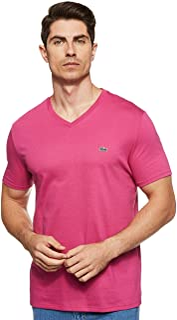 Lacoste Men's Legacy Short Sleeve V-Neck Pima Cotton Jersey T-Shirt