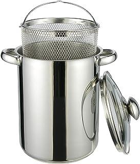 HI 22012 - Olla para espárragos o pasta (acero inoxidable, con cesto de alambre, 21 cm de altura)