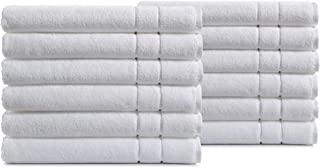 Haven Cotton 100% Turkish Cotton Hand Towel Set - Pack of 12, 16 x 30 Inches, 600 GSM, White