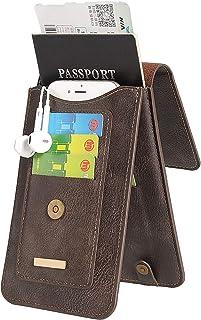 INFLATION Multi-Purpose Waist Bag RFID Blocking Travel Passport Leather Card Phone Case Document Organizer