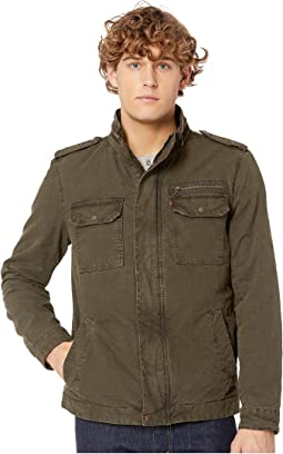 Two-Pocket Military Jacket with Polytwill Lining