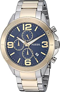 Fossil Men's Modern Century Quartz Watch with Stainless-Steel-Plated Strap, Two Tone, 22 (Model: BQ2263)
