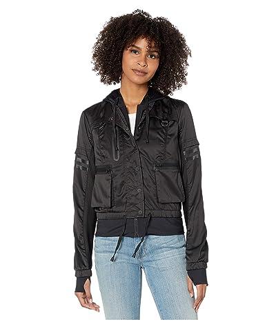 Blanc Noir Skyfall Bomber Jacket (Black/Black) Women