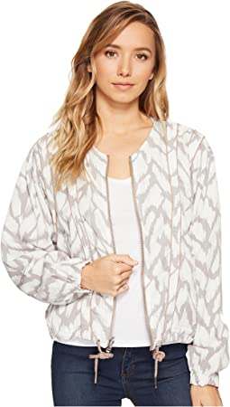 Printed and Solid Rayon Tencil Jacket in Deep Truth