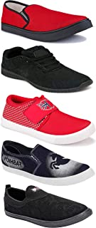 WORLD WEAR FOOTWEAR Sports Running Shoes/Casual/Sneakers/Loafers Shoes for Men Multicolor (Combo-(5)-1219-1221-1140-690-1074)
