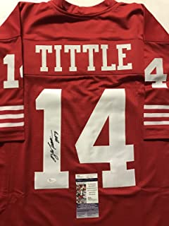 Autographed/Signed YA Y.A. Tittle