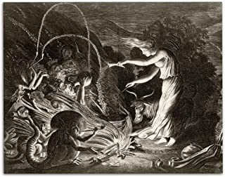 A Witch at Her Cauldron Surrounded By Beasts - 11x14 Unframed Art Print - Perfect Conversational Piece, Bizarre, Strange, ...