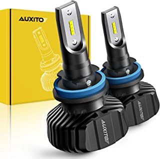 AUXITO H11 H8 H9 LED Headlight Bulb Fanless All-in-one Conversion Kit 9000 Lumens High Low Beam Headlights Fog Lights 6500K Xenon White, Pack of 2