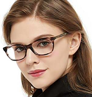 1360c1d28879 OCCI CHIARI Womens Rectangle Stylish Eyewear Frame Non-Prescription Clear  Eyeglasses