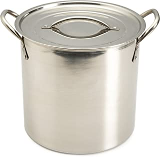 Good Cook 8 Quart Covered Stainless Steel Stock Pot