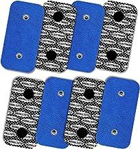 TENSPAD SILVER 8 elettrodi con Motivo Argento per Compex, 50x100mm con 2 connettori Snap