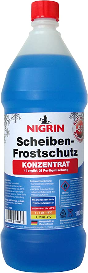 Nigrin 74484 Scheiben Frostschutz Konzentrat Bis 55 C 1 Liter Auto
