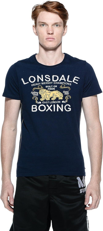 Lonsdale Camiseta Manga Corta Ryan Azul Marino M (UK S ...