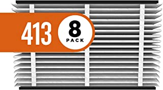 Aprilaire 413 Replacement Air Filter for Aprilaire Whole Home Air Purifiers, Healthy Home Allergy Filter, MERV 13 (Pack of 8)
