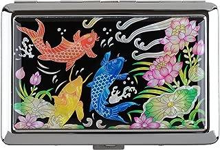 Cigarettes Box Storage Case Box Tobacco 100s Cigar Container Holder Mother of Pearl (Nishikigoi Fish)