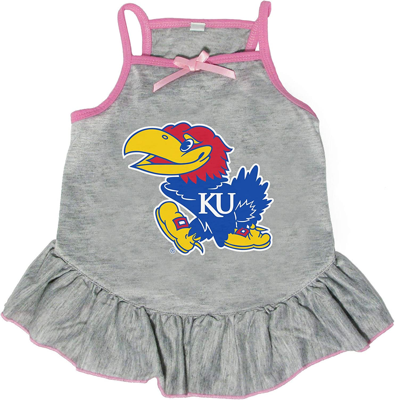 San Francisco Mall Littlearth NCAA Kansas Milwaukee Mall Jayhawks Medium Dress Pet