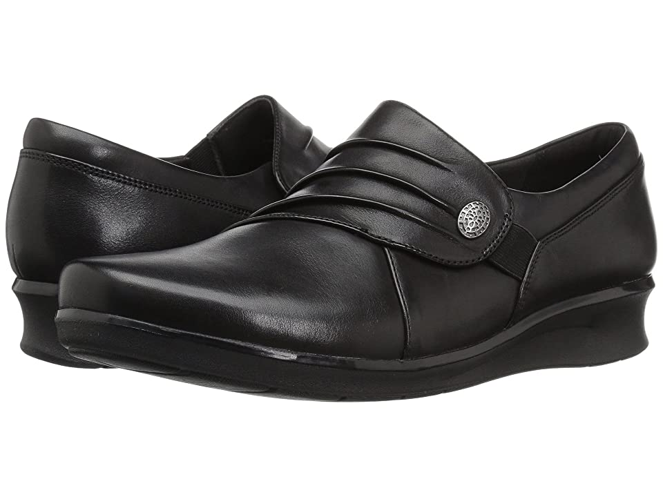 Clarks Hope Roxanne (Black Leather) Women