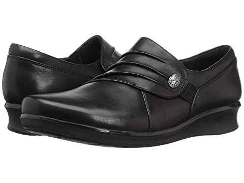 Clarks , BLACK LEATHER