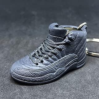 Air Jordan XII 12 Retro PSNY Public School Dark Grey OG Sneakers Shoes 3D Keychain 1:6 Figure