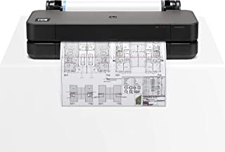 """HP DesignJet T250 Large Format Compact Wireless Plotter Printer - 24"""", with Modern Office Design (5HB06A) (Renewed)"""