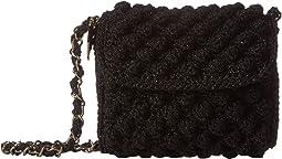 Solid Lurex Raffia Bag