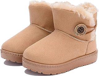 Enfant Hiver Bottes de Neige bottines pour Bébé fille Premiers Pas Chaud Fourrure Chaussures Imperméable Souple Bottines g...
